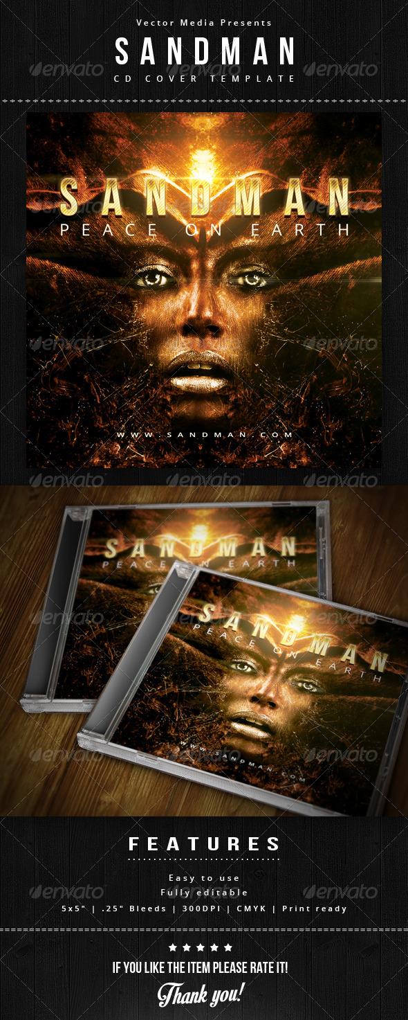 GraphicRiver Sandman CD Cover 5785836
