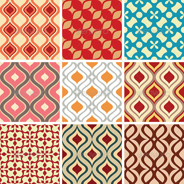 GraphicRiver Abstract Vector Patterns 5785927