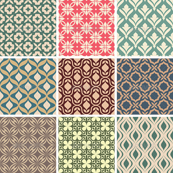 GraphicRiver Abstract Vector Patterns 5785930