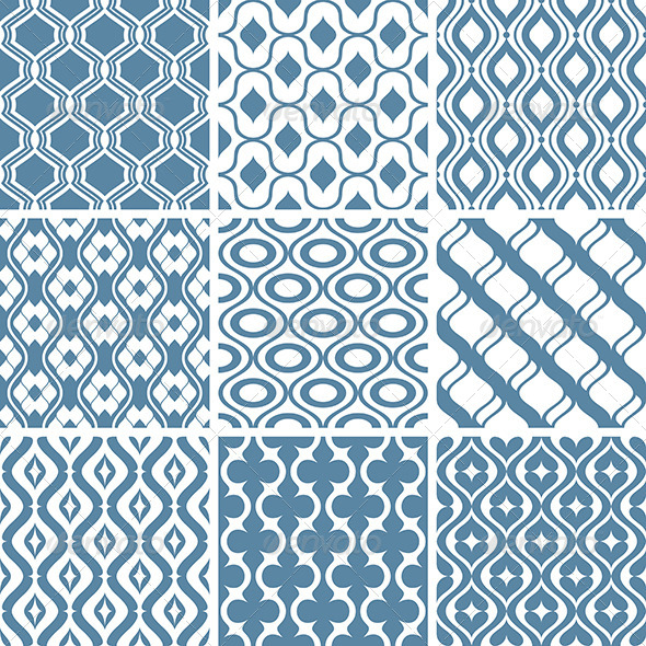 GraphicRiver Abstract Vector Patterns 5785986