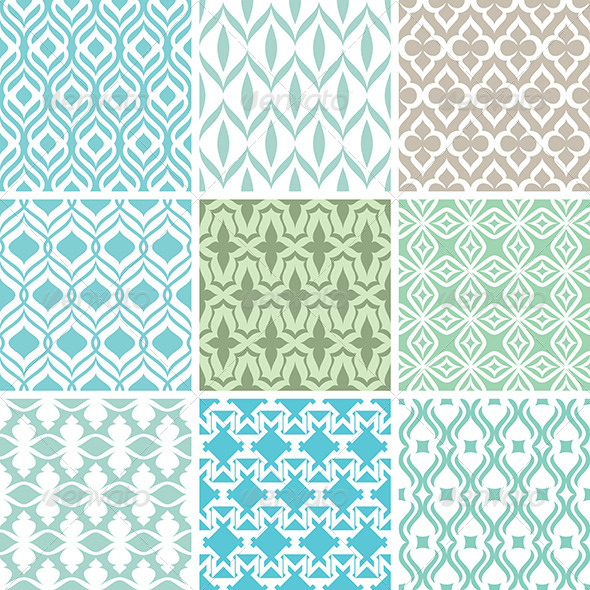 GraphicRiver Abstract Vector Patterns 5785993