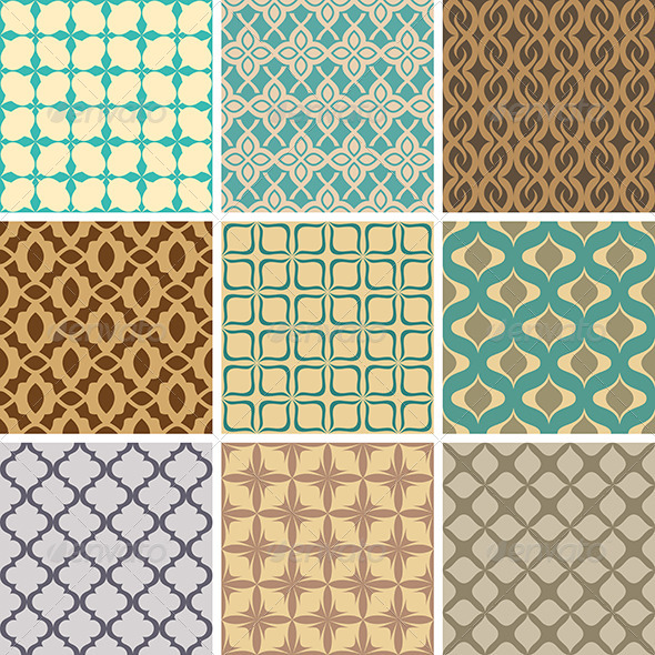 GraphicRiver Abstract Vector Patterns 5785996