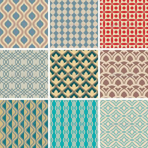 GraphicRiver Abstract Vector Patterns 5786029