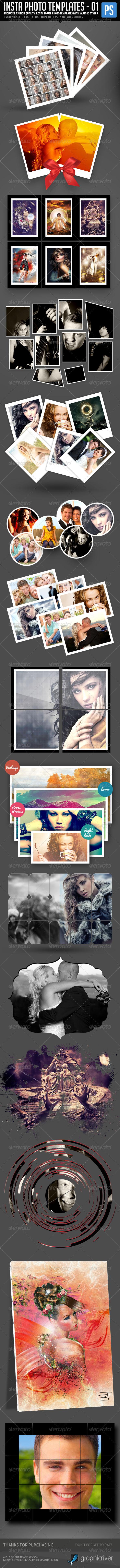 Insta Photo Templates (15 in 1) - Photo Templates Graphics