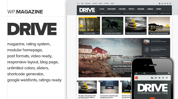 Drive - Premium and Responsive WordPress Magazine