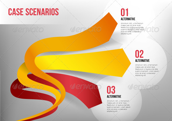 GraphicRiver Elastic 3D Arrows Representing Three Directions 5786846