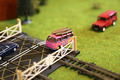 Model Railway Pink Car Crosses Level Crossing - PhotoDune Item for Sale