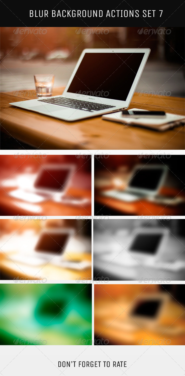 GraphicRiver Blur Background Action Set V7 5787345