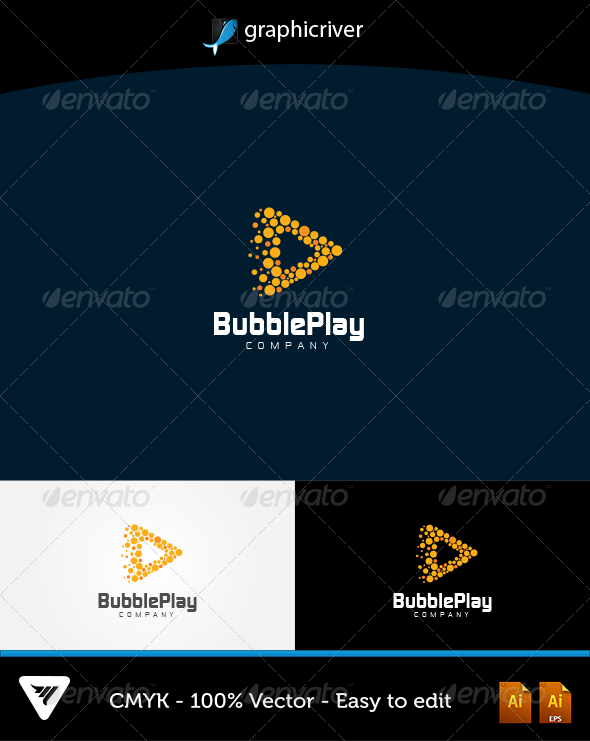 GraphicRiver BubblePlay Logo 5787753