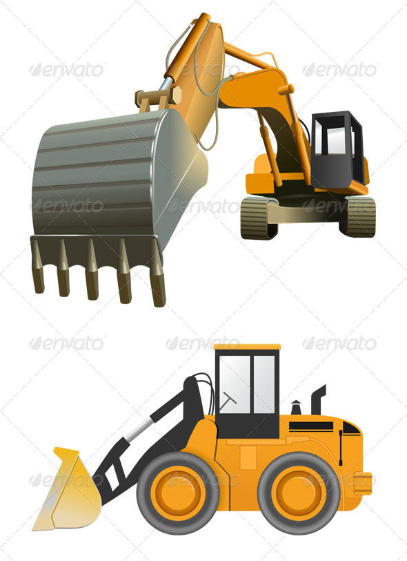GraphicRiver Construction Machines 5787788