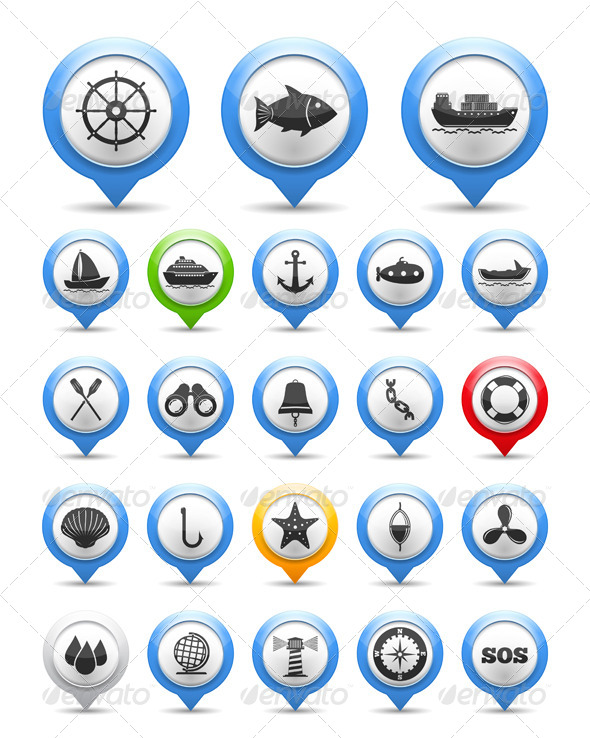 GraphicRiver Nautical Icons 5788138
