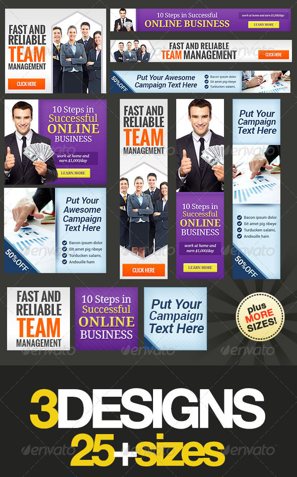 GraphicRiver Corporate Web Banner Set Bundle 8.0 5788253