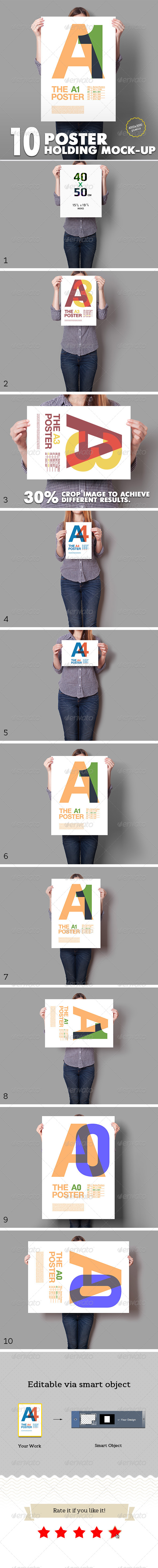 GraphicRiver Poster Mockup 10 Different Images 5788286