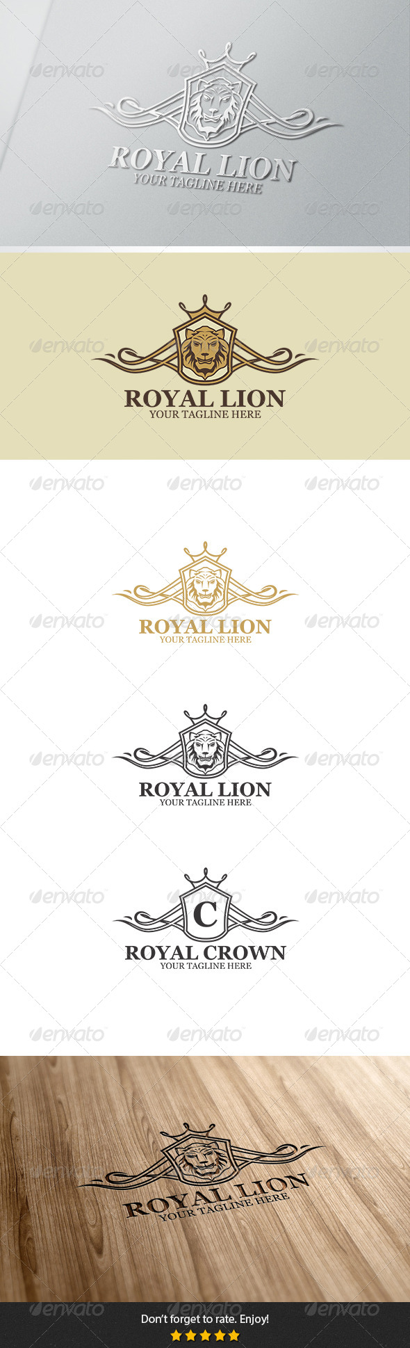 Royal Lion Logo - Crests Logo Templates