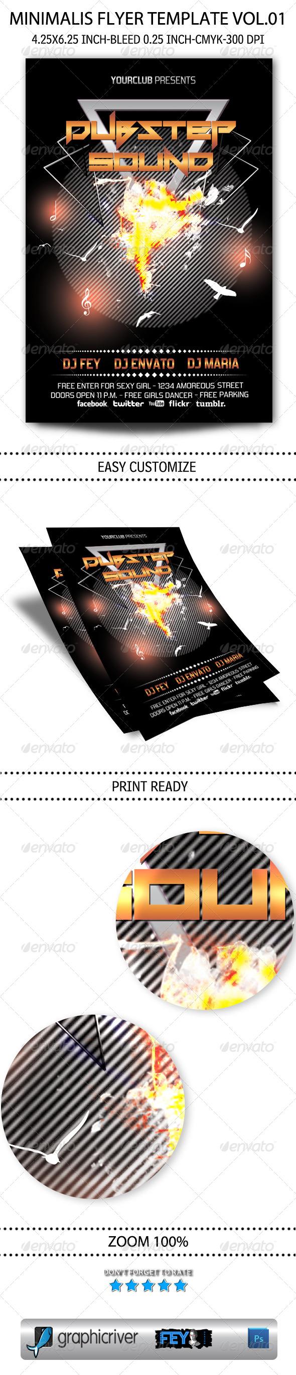 GraphicRiver Minimalist Flyer Template Vol.01 5789086