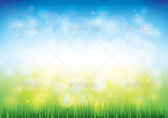 GraphicRiver Blue Sky and Grass Background 5789151