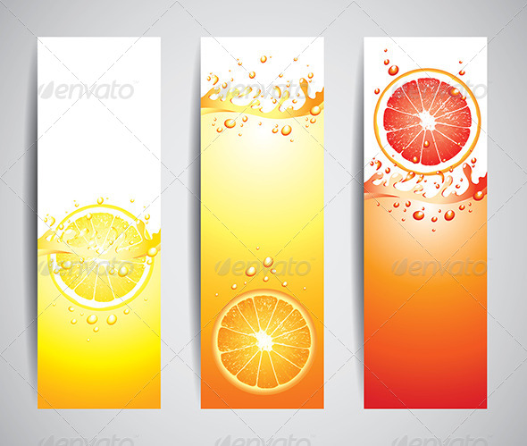 GraphicRiver Juicy Citrus Splashes Banners 5789153