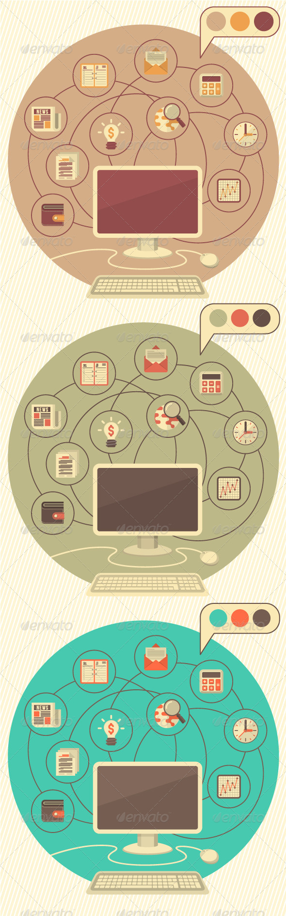 GraphicRiver Computer as a Tool for Business 5789155