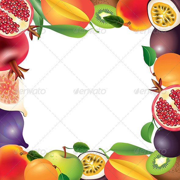 GraphicRiver Fresh Fruits Frame Background 5789254