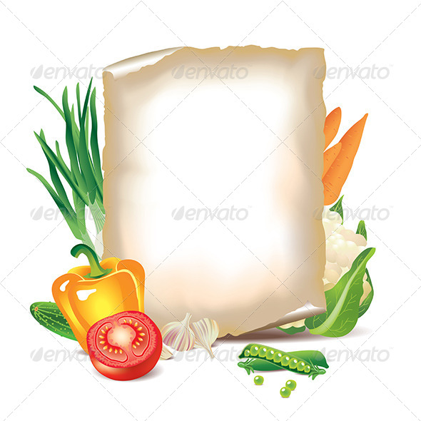 GraphicRiver Vegetables and Sheet of Paper 5789299