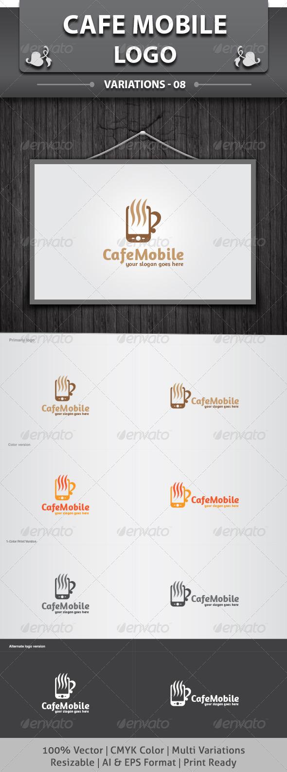 Cafe Mobile Logo - Food Logo Templates