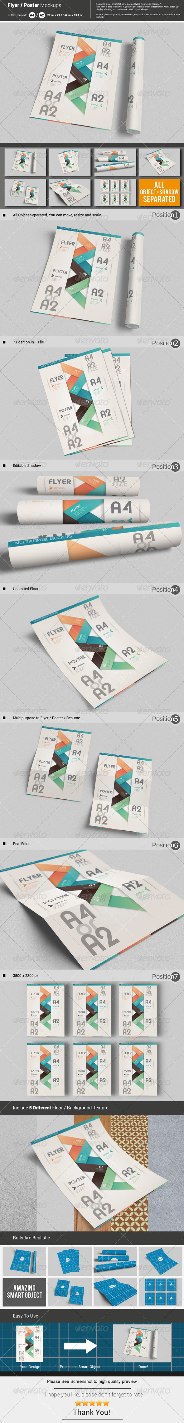 GraphicRiver Flyer Poster Mockups 5789572