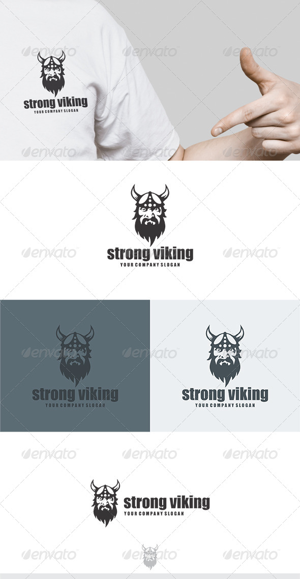GraphicRiver Strong Viking Logo 5789802