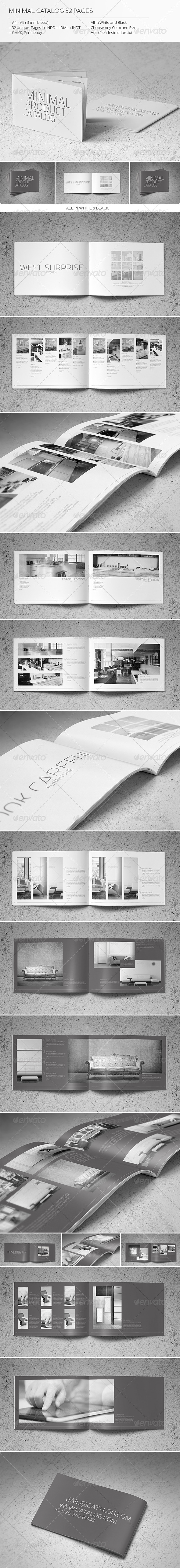 GraphicRiver Minimal Catalog 32 Pages 5790591