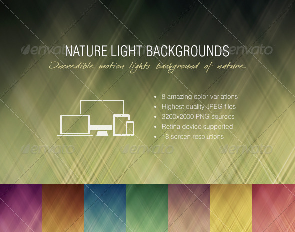 GraphicRiver Nature Light Backgrounds 5790610