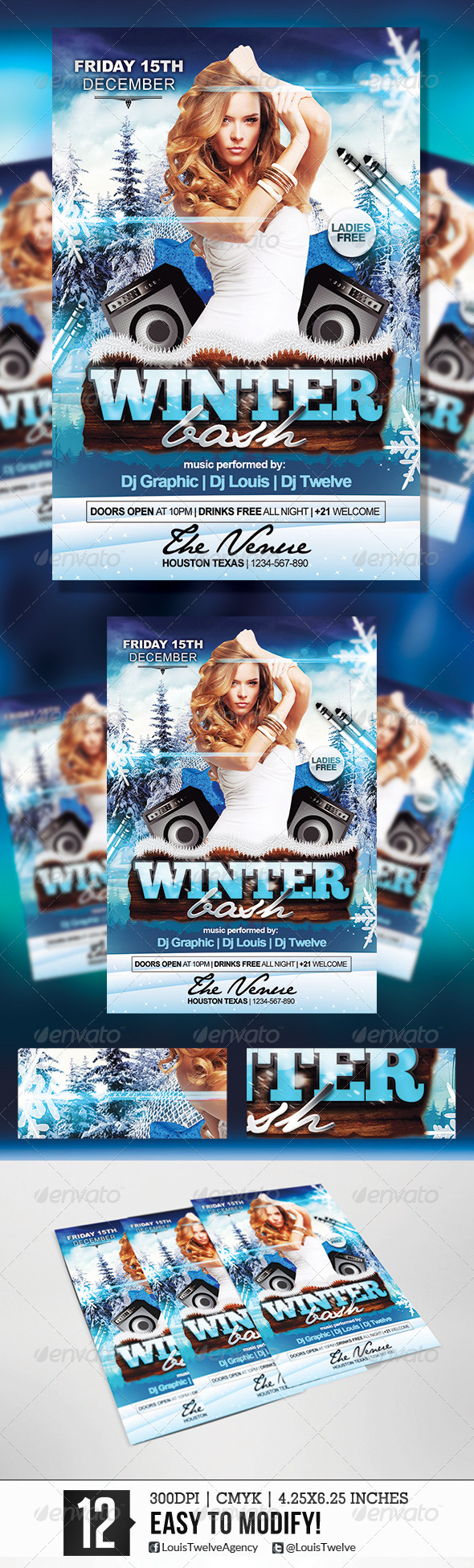 GraphicRiver Winter Bash Flyer Template 5790826