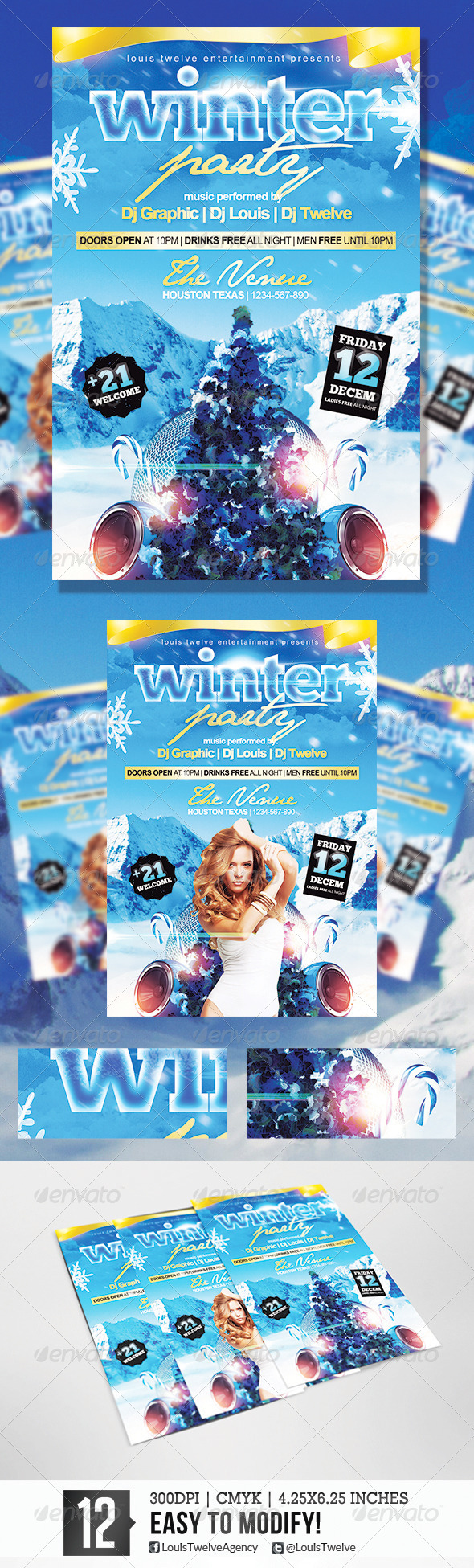 GraphicRiver Winter Party 2 Flyer Template 5790872