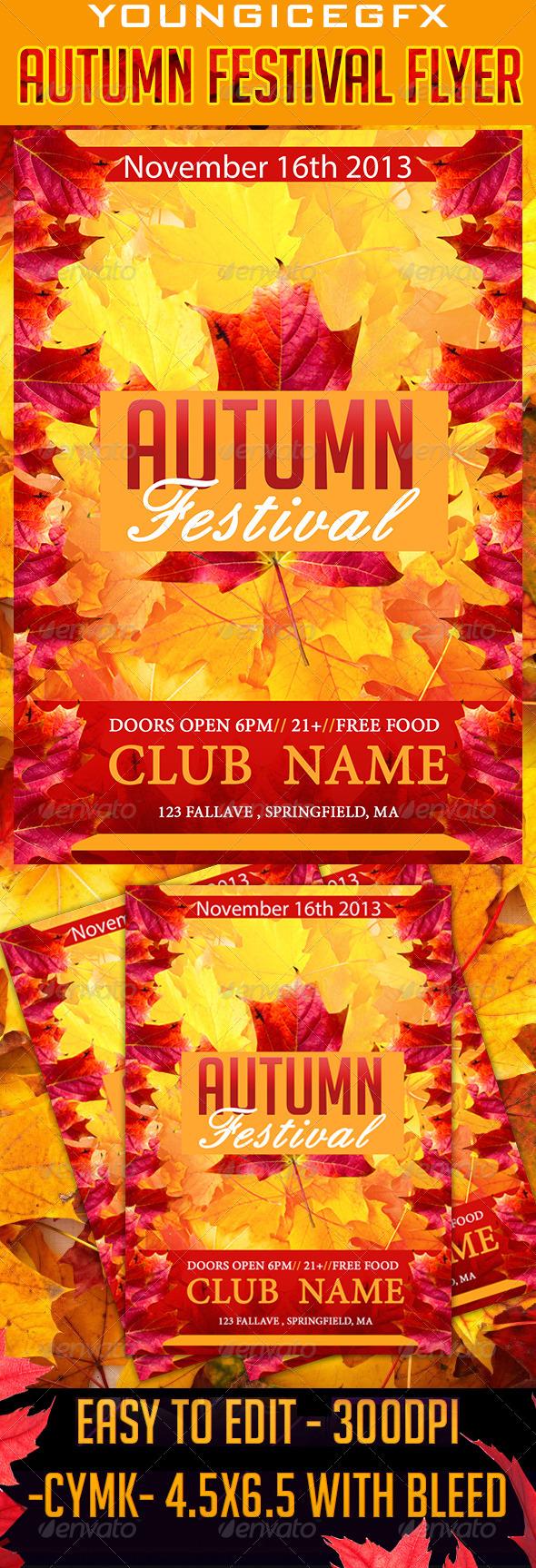 GraphicRiver Autumn Festival Flyer 5790879
