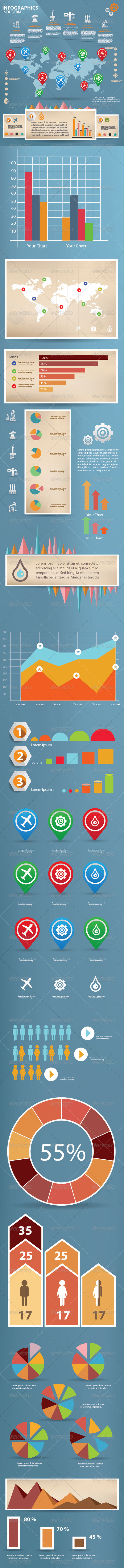 GraphicRiver Industry Infographics 5791492