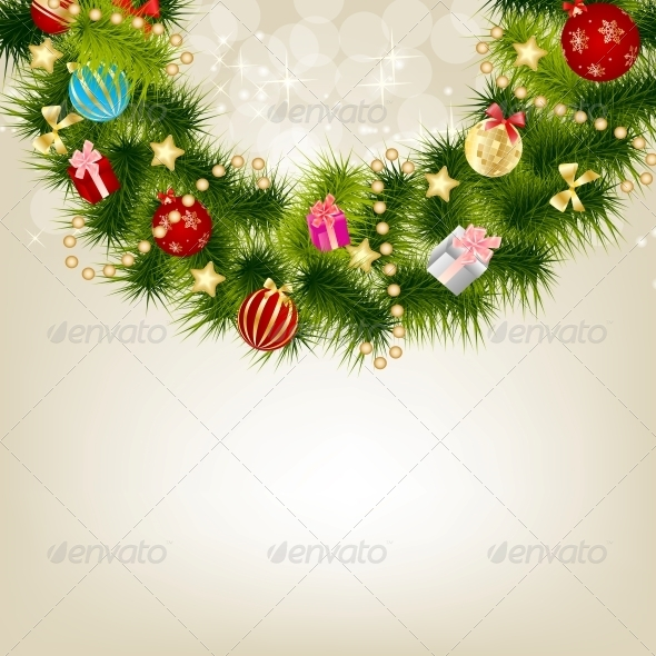 GraphicRiver Abstract Christmas and New Year Background 5791517
