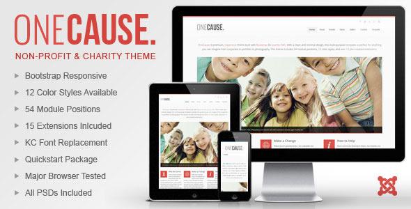 ThemeForest OneCause Charity & Non-Profit Joomla Theme 5791537