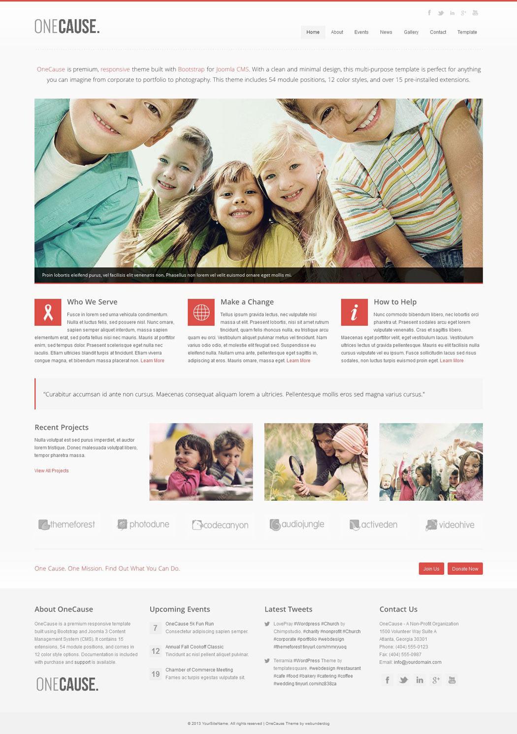 OneCause - Charity & Non-Profit Joomla Theme