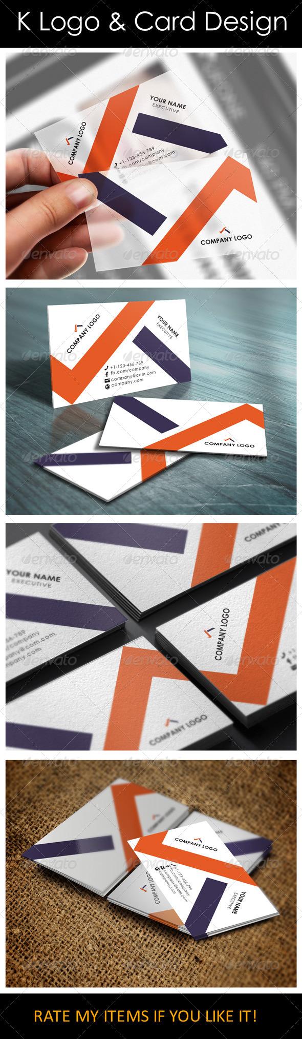 GraphicRiver K Logo & Card Design 5792879