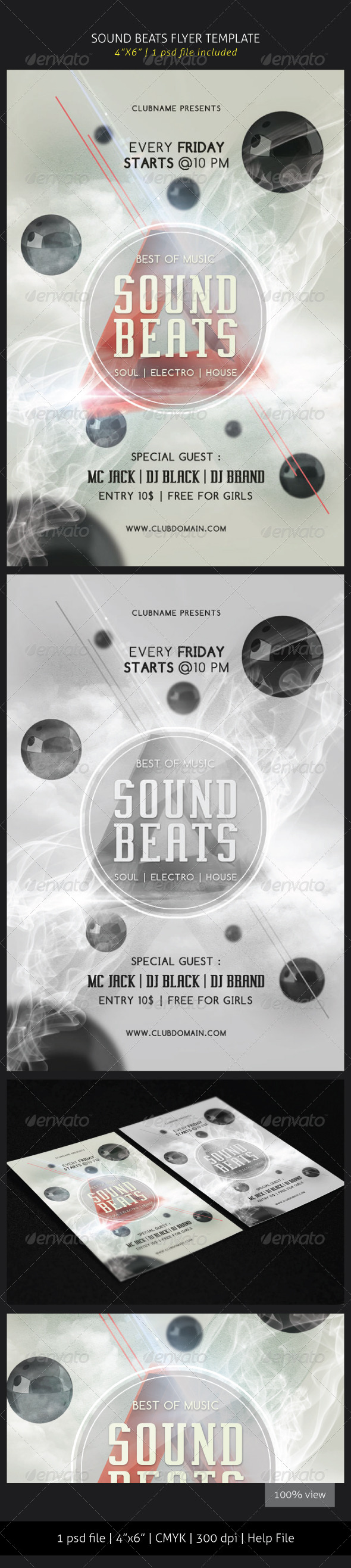 GraphicRiver Sound Beats Flyer Template 5792893