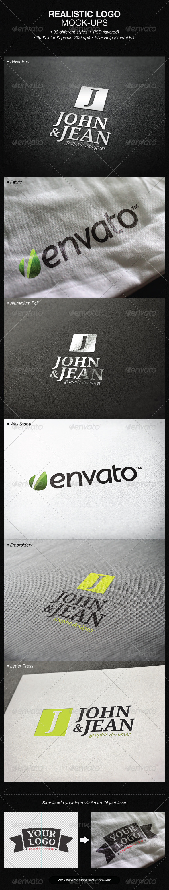 Realistic Logo Mock-ups - Product Mock-Ups Graphics