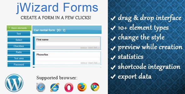 CodeCanyon jWizard Forms WordPress Form Creator 5743797