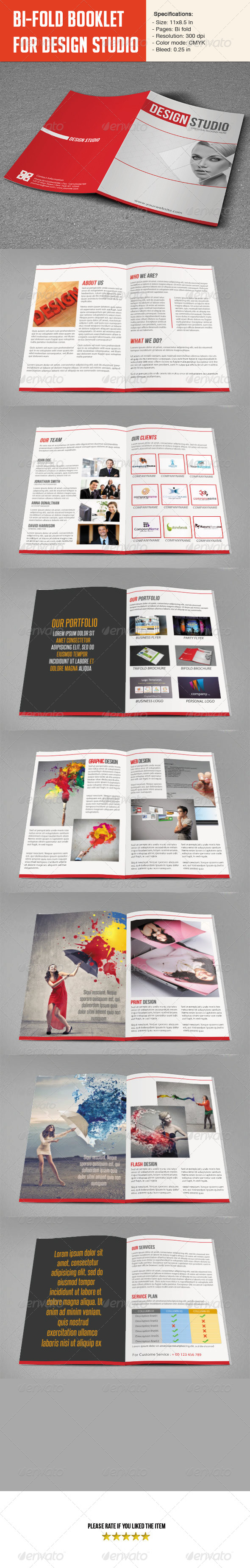 GraphicRiver Bifold Brochure for Design Studio 5794247