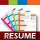 4 Set Creative & Professional Resume Template