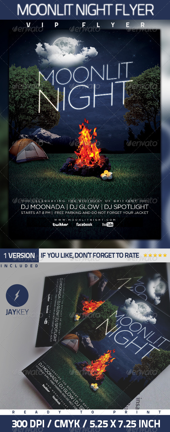 GraphicRiver Moonlit Night Flyer 5795507
