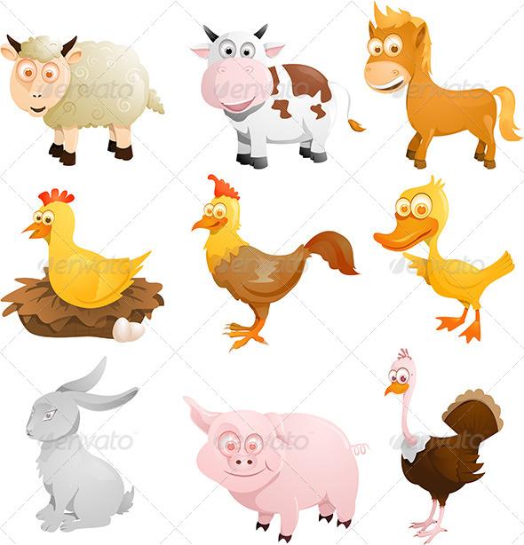 GraphicRiver Farm Animals 5796040