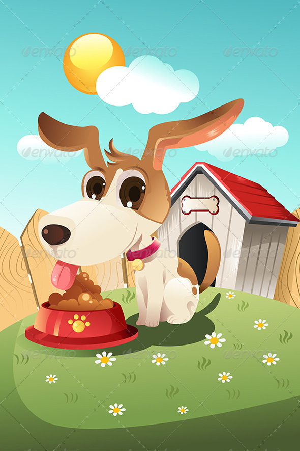 GraphicRiver Dog in Doghouse 5796148