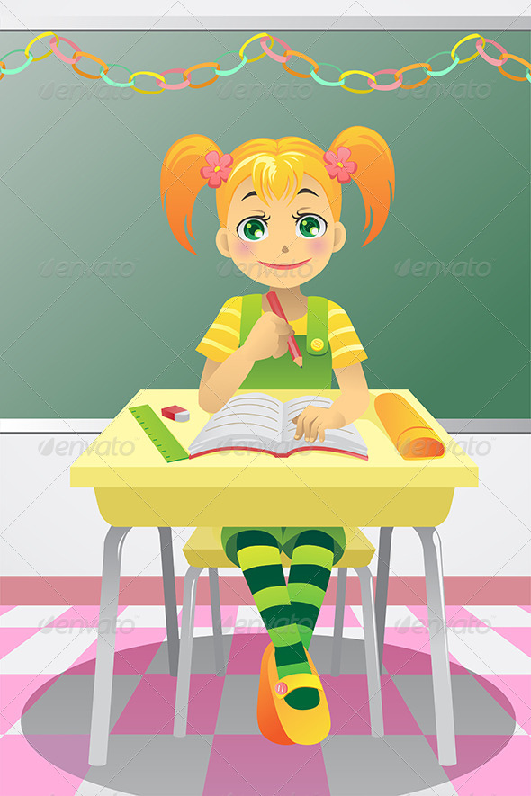 GraphicRiver Student Girl 5797283