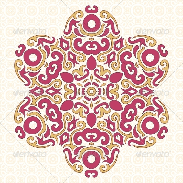 GraphicRiver Abstract Vector Ornament in Tribal Style 5797420