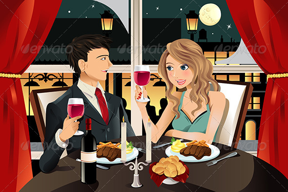 GraphicRiver Couple in Restaurant 5797783