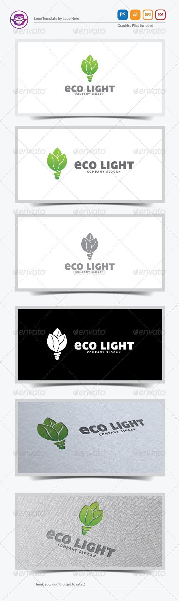 GraphicRiver Eco Light Logo Template 5798033