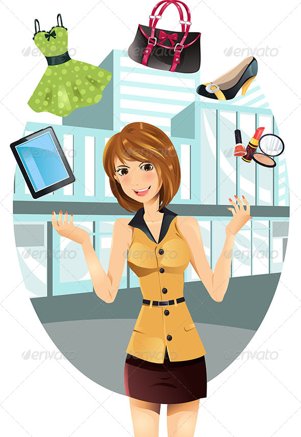 GraphicRiver Shopping Woman 5798144